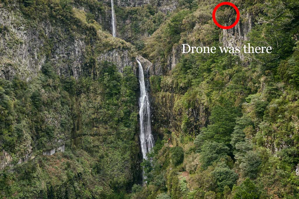 Drone crash mark